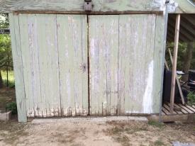 Doors off of old garage on Flynn Field Farm