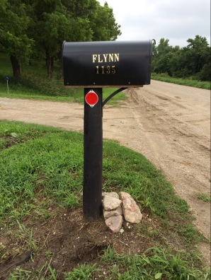 New mailbox with reflectors and numbers.
